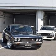 富士モーターファンフェス R3000GT R32ケンメリ スペシャルケンメリ展示走行